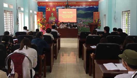 Toàn cảnh Hội nghị tiếp xúc cử tri tại thị trấn Mèo Vạc