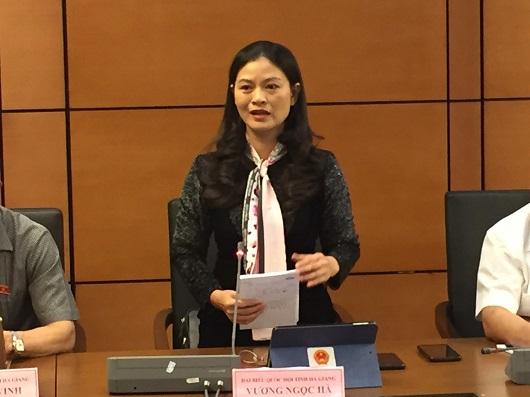 Đại biểu Vương Ngọc Hà phát biểu thảo luận