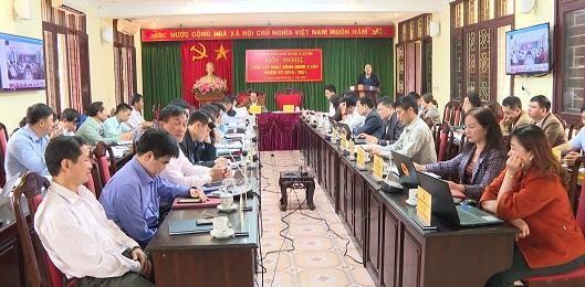 Toàn cảnh hội nghị trực tuyến tổng kết HĐND các cấp huyện Vị Xuyên, nhiệm kỳ 2016-2021