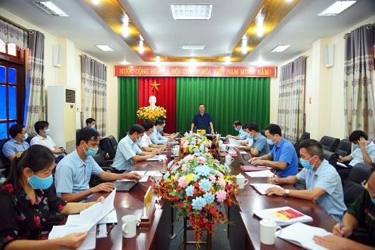 Buổi làm việc của Phó Bí thư Thường trực Tỉnh ủy, Chủ tịch HĐND tỉnh Thào Hồng Sơn với huyện Quang Bình về công tác bầu cử.